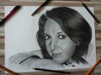 Kreslený obraz ženy  www.facebook.com/portrety.obrazy https://instagram.com/lubomir.franciak/ http://www.portrety-obrazy.sk/