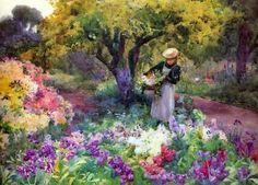 ebay paintings by mildred butler | Mildred Butler collecting-flowers.jpg (600×432)