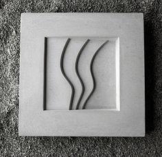 Concrete. Wave birdbath