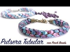 Tutorial Pulsera redonda con Pinch Beads y telar Kumihimo