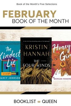 The Book of the Month February 2021 selections are here! Decide which of the five books you want to add to your subscription box. Books available include The Four Winds, Honey Girl, Girl A, The Kindest Lie, and Infinite Country. Best Book Club Books, New Books, Good Books, Books To Read, Starting A Book, 12th Book, New Wife, Las Vegas Trip, Book Lists