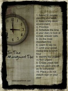 Ten Great Time Management Tips