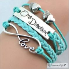 Armband Infinity One Direction türkis/ mint  im...
