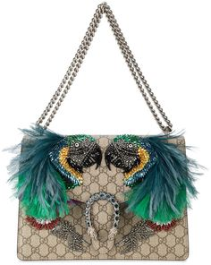 Gucci Dionysus feather embellished shoulder bag
