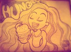 Hungry #xlrosa #giz #sketch #funny #hungry #eat