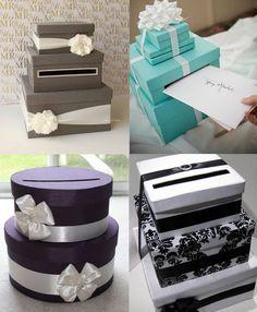 """Leuk om te maken, voor de """"enveloppen met inhoud"""" op jullie trouwdag - wedding card box"""