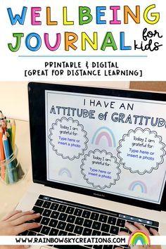 Help your students focus on their wellbeing with this journal and activities designed specifically for kids. This journal comes in a digital and printable format so it is ideal for distance learning. A perfect way to touch base with your students if they are at home learning.