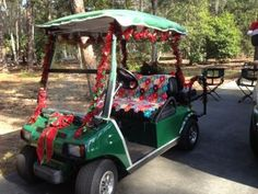 What a sweet Christmas gift, a new Club Car golf cart