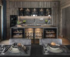 new-lhm7_3 Mountain Cottage, Set Cookie, Lake Cabins, Liquor Cabinet, Bedroom, Interior, Kitchen, Furniture, Design