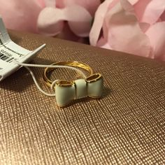 "Kate Spade Ring Kate Spade ""take a bow"" cream colored ring. NWT kate spade Jewelry Rings"