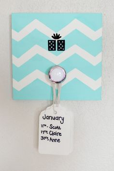 """These decorative birthday boards are great reminders for upcoming family and friends birthdays! And cute Home Decor!    These boards are smaller than a typical birthday board, which is wonderful if you don't have a large wall space to display it on. They are 6"""" x 6"""", each comes with a hanging device already in place and a set of 12 card stock tags which measure 2"""" x 3.25"""". Each tag will represent one month of the year, where you can list as many family members and friends that have a…"""