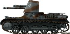 The Panzerjäger I was based on the Ausf.B chassis and was the earliest German tank-hunter.