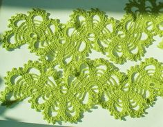 Hand-made Handcrochet Green  bruges lace  SCARF - PDF Crochet Pattern. $3.50, via Etsy.
