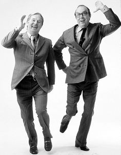 Eric Morecambe and Ernie Wise were my favourite comedians when I was growing up! Always remember the classic sketches and musical numbers! British Comedy, British Actors, Comedy Actors, Morecambe, Classic Comedies, Vintage Television, Uk Tv, My Childhood Memories, Nice Memories
