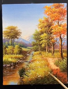 Landscape Drawings, Landscape Art, Landscape Paintings, Art Drawings, Paintings Of Nature, Paintings I Love, Canvas Painting Tutorials, Diy Canvas Art, Pastel Landscape