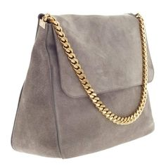 6ca28b86bd7 Pre-owned Celine suede hobo bag with gold chain. In good preowned ...