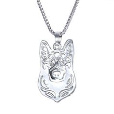 GIONO Hollow Dog locket pendant Clavicle Chain Necklace With 45cm Chian *** Learn more by visiting the image link. (This is an affiliate link and I receive a commission for the sales) #Dogs