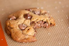 Looking for an exciting and indulgent upgrade on the plain old chocolate chip cookie? Well here you have it! I saw these over at Ambitious Kitchen, a blog