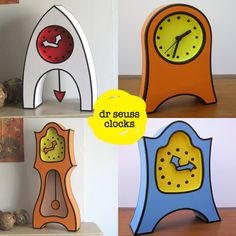 dr seuss clocks for the baby's room :)