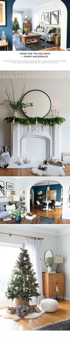 How an interior designer decorates for the holidays! Shop the look with Lulu and Georgia! Home Design Decor, Home Decor Styles, House Design, Design Ideas, Living Room Nook, Living Spaces, Home And Living, Home And Family, Interior Styling