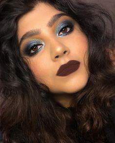 "Misha Faran on Instagram: ""I adore blue 💙  BASE: @ctilburymakeuparabia Light Wonder Foundation / 6  @ctilburymakeuparabia Contour Wand  @maybelline Instant Age…"" Brown Lip, Maybelline, Wands, Contour, Makeup Ideas, Septum Ring, Foundation, Halloween Face Makeup, Base"