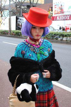 Tokyo Harajuku Kawaii girls fashion cute pop vivid neon colorful Japanese street styles as known as Kyary Pamyu Pamyu Japanese Street Fashion, Tokyo Fashion, Harajuku Fashion, Harajuku Style, Harajuku Girls, Kawaii Fashion, Japan Street, Tokyo Street Style, Street Style Women