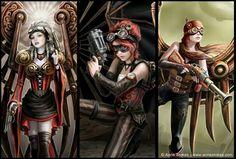 Steam punk angels
