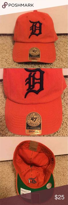 Detroit Tigers Baseball Hat Brand new • with tags • size small • no adjustable snap in the back • paid $30 • no free shipping • Detroit Tigers Accessories Hats