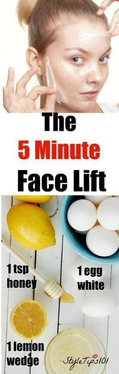 The best DIY projects & DIY ideas and tutorials: sewing, paper craft, DIY... Beauty Tip / DIY Face Masks 2017 / 2018 5 minute face lift -Read More -