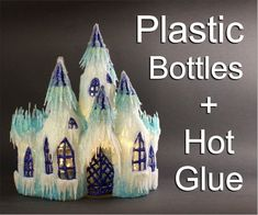 DIY Frozen Castle Using Plastic Bottles and Hot Glue: 5 Steps (with Pictures) hot glue gun crafts DIY Frozen Castle Using Plastic Bottles and Hot Glue Hot Glue Art, Crafts With Hot Glue, Glue Gun Projects, Glue Gun Crafts, Fun Projects, Plastic Bottle Crafts, Diy Bottle, Bottle Art, Diy With Plastic Bottles