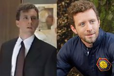 """He damns """"the man. He's Hodgins, a rich dude with a rebellious soul who solves crimes for the pure satisfaction of it. Elvis And Priscilla, Priscilla Presley, Tj Thyne, Freddy Rodriguez, Bones Tv Show, Famous Stars, Interesting Faces, Then And Now, Looking Back"""