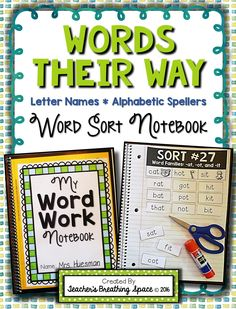 Words Their Way Word Sorting Notebook for Letter Name / Alphabetic Spellers --- Includes word sorting materials for all 50 word sorts included in the red workbook. 2nd Grade Reading, Kindergarten Reading, Teaching Reading, Guided Reading, Dyslexia Teaching, Kindergarten Phonics, Reading Lessons, Teaching Spanish, Math Lessons