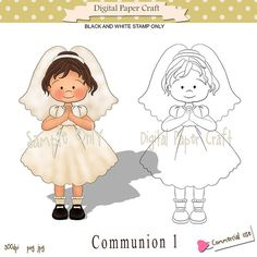Digital StampFirst Communion Great for by DigitalPaperCraft