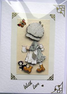 Milk Maid HandCrafted 3D Decoupage Card  With by SunnyCrystals, £1.75