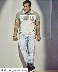 20a366e4353 Salman Khan for Being Human Clothing photoshoot.