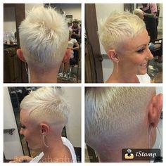 go shorter — Another fun #pixiefade #chickfade on Melissa!...