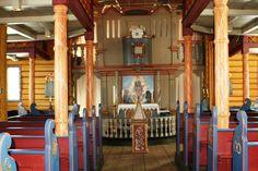 Interior of Vinje kyrkje, Telemark, Norway. (Torgerson ancestors)