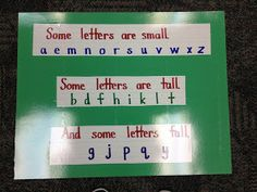 Diversity in the alphabet! Just like people, some letters are small and some letters are tall! I could use this as another reference to diversity, as students already know the alphabet, but haven't yet made a connection to diversity.