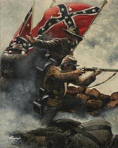 Colors & Courage - Follow Me Boys - Gettysburg – Pickett's Charge – by Ron Lesser