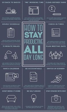 HowToStayProductive_Blue.jpg #homeschoolinginfographic