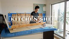 DIY  Step by step how to build kitchen shelf and wall with reclaimed wood.