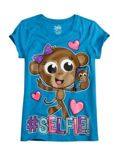 Monkey Selfie Graphic Tee | Girls Graphic Tees Clothes | Shop Justice
