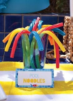 colored twizzlers as pool noodles