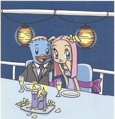 Norm and Bridget - One happy couple (From the My Cage comic strip currently revived as a webcomic on Patreon).
