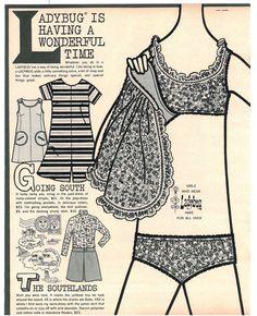 Ladybug clothing ad in Seventeen Magazine, 1967.