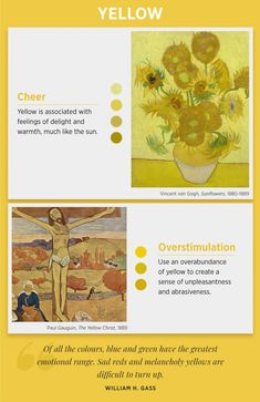 Colours and Emotions Meaning (psychology of color) is important for all artists! Let's look at Examples of Famous Artists The Use Color. Color Meaning Personality, Art Psychology, Psychology Meaning, Behavioral Psychology, Color Symbolism, Colors And Emotions, Color Meanings, Paul Gauguin, Color Studies