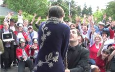 Lip dub marriage proposal ;0 <3 it makes my heart happy. Some men have romance in their hearts. Its true.