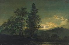 Caspar David Friedrich, Moonlit landscape, c. 1808