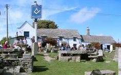 Arguably the best pub in England - The Square and Compass, Worth Matravers became an alehouse in Dorset British Pub, British Isles, Rutland Water, Outside Seating, Best Pubs, Old Pub, Jurassic Coast, New Forest, Cumbria
