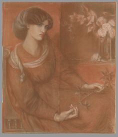 "Jane Morris: Study for ""Mariana"" - Dante Gabriel Rossetti"